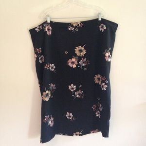 Plus Size Who What Wear Floral Midi Skirt
